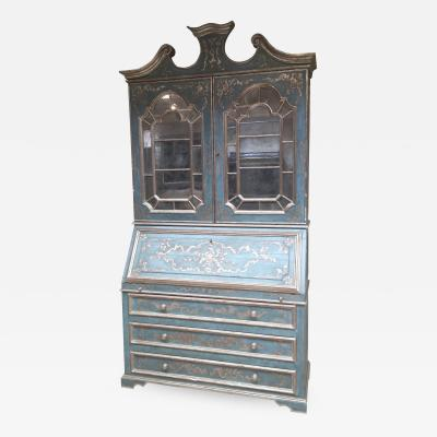 Secretaire with hand carved gilded art work