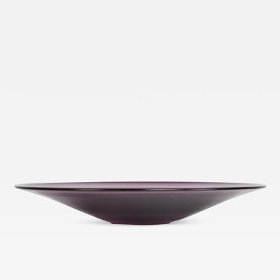 Seguso Vetri d Arte 60s Italy Purple Rain Modern Murano Glass Decorative Platter Seguso Vetri dArte