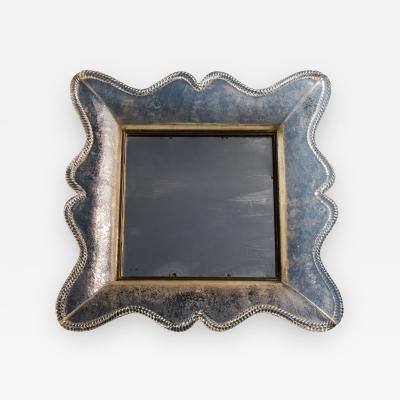 Seguso Vetri d Arte Rare Smoked Glass Mirror by Seguso