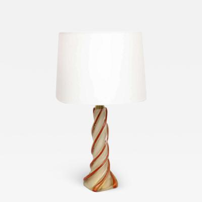 Seguso Vetri d Arte Seguso Table Lamp Mid Century Modern Murano Art Glass Italy 1950s