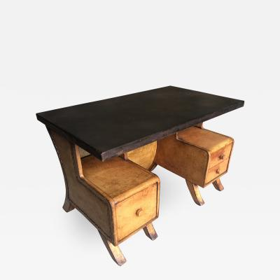 Sensational Leather Clad French Arte Deco Desk