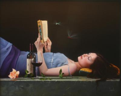 Serendipity Contemporary Figurative Giclee Print by Dario Campanile