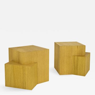 Serge Castella Pair of Serge Castella Contemporary Bedside Tables France circa 2000