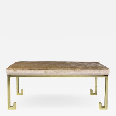 Serge Castella Serge Castella Elegant Brass Bench circa 200 France