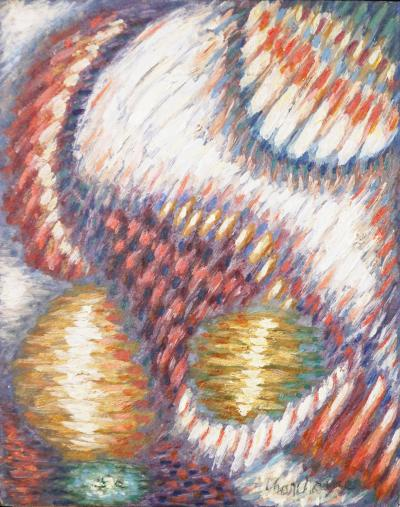 Serge Charchoune Rare oil painting by Russian artist Serge Charchoune Bourree Fantasque
