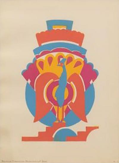 Serge Gladky Art Deco Pochoir by Serge Gladky