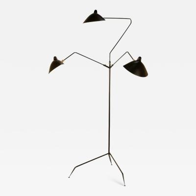 Serge Mouille Editions Serge Mouille Lampadaire 3 Bras Pivotants Floor Lamp