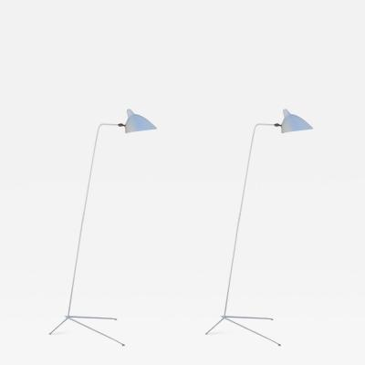 Serge Mouille Pair of Stamped and Numbered Lampadaire Simple Floor Lamps by Serge Mouille