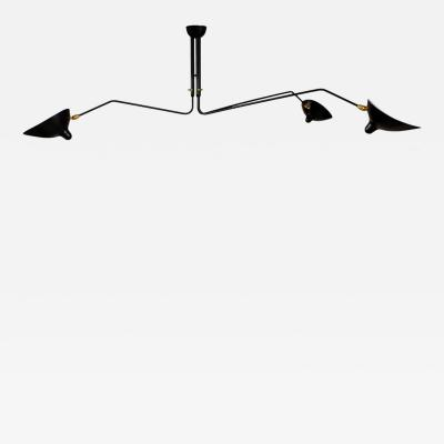 Serge Mouille Serge Mouille 3 Rotating Arm Ceiling Lamp