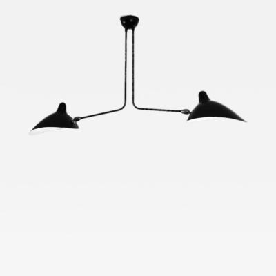 Serge Mouille Serge Mouille Black or White 2 Arm Ceiling Lamp