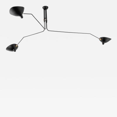 Serge Mouille Serge Mouille Black or White 3 Arm Ceiling Lamp