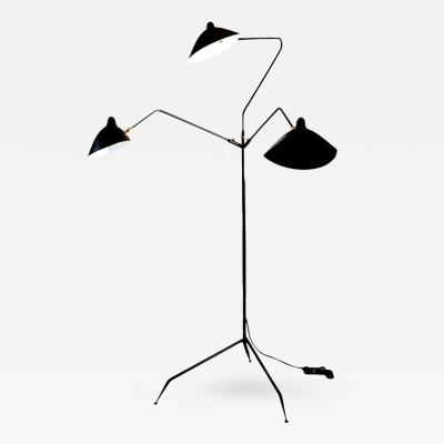 serge mouille serge mouille black or white 3 arm floor lamp