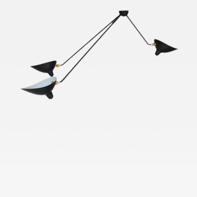Serge Mouille Serge Mouille Black or White 3 Arm Spider Ceiling Lamp