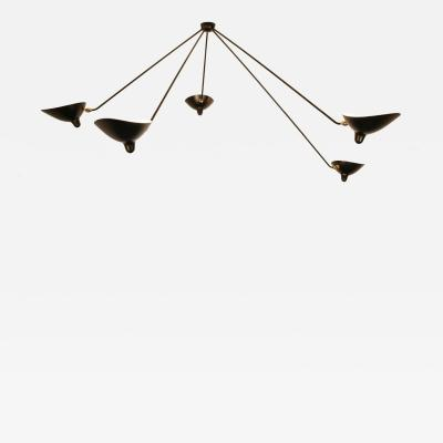 Serge Mouille Serge Mouille Black or White 5 Arm Spider Ceiling Lamp