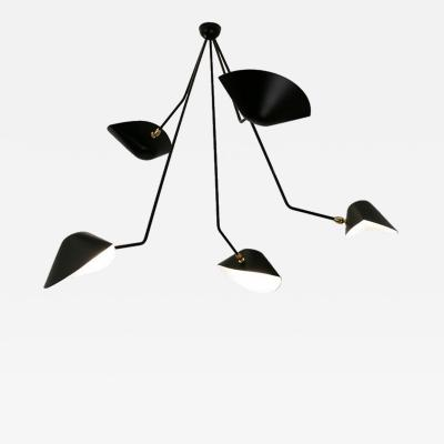 Serge Mouille Serge Mouille Black or White 5 Falling Arm Spider Ceiling Lamp