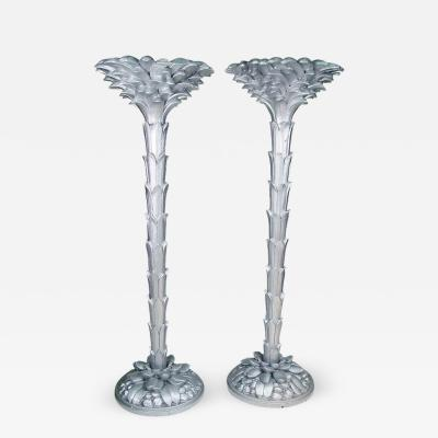 Serge Roche French Torchiere Floor Lamps in the Manner of Serge Roche
