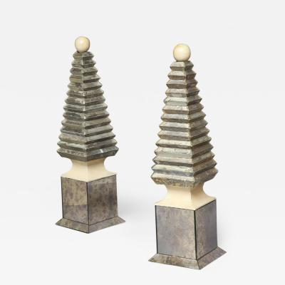 Serge Roche Pair of Obelisks Serge Roche French c 1940