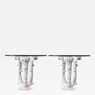 Serge Roche Pair of Serge Roche Carved Wood Tables