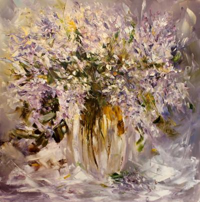 Sergey Piskunov A Bouquet of Lilacs