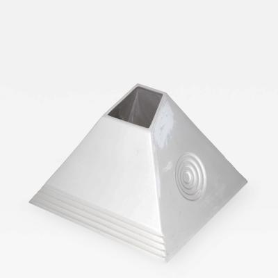 Sergio Asti Ceramic Pyramid Vase by Sergio Asti Italy Signed