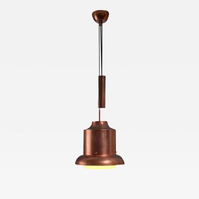 Sergio Asti Sergio Asti copper Ebe pendant with counterweight for Artemide Italy 1960s