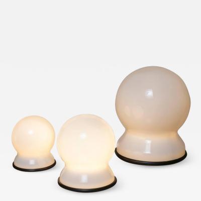 Sergio Asti Set of Three Scafandro Table Lamps by Sergio Asti for Candle