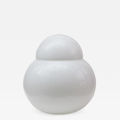 Sergio Asti White Opaline Table Lamp by Sergio Asti Italy 1955