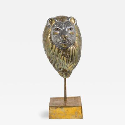 Sergio Bustamante A Large Sergio Bustamante Bust of a Lion Signed and Editioned 30 100