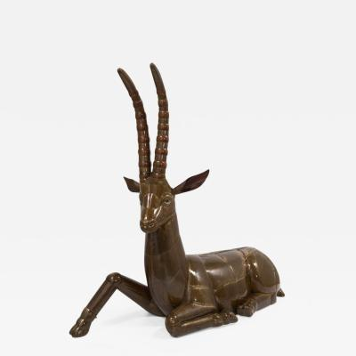 Sergio Bustamante Brass and Copper Ibex by Sergio Bustamante Mexico 1970s