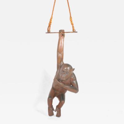Sergio Bustamante Bustamante Huge Copper Chimpanzee Hanging Sculpture