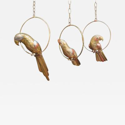 Sergio Bustamante Set of Three Sergio Bustamante Parrot Sculptures