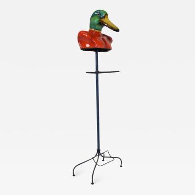 Sergio Bustamante Vivid Colored Duck Gentlemans Valet Coat Rack by Sergio Bustamante Mexico 1960s