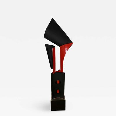 Sergio Castillo Chilean Modern Steel and Enameled Sculpture