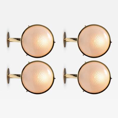 Sergio Mazza 1960s Sergio Mazza Brass Gamma Wall or Ceiling Lights for Artemide
