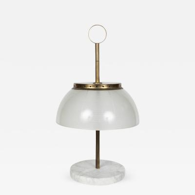 Sergio Mazza 1960s Sergio Mazza Brass and Marble Table Lamp for Artemide