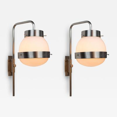 Sergio Mazza 1960s Sergio Mazza Delta Wall Lights for Artemide