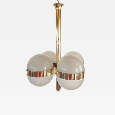 Sergio Mazza Large Mid Century Modern Tetraclio chandelier by Sergio Mazza for Artemide