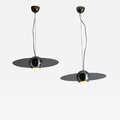 Sergio Mazza Pair of Padacroma Pendant Lamp by Mazza and Gramigna for Quattrifolio