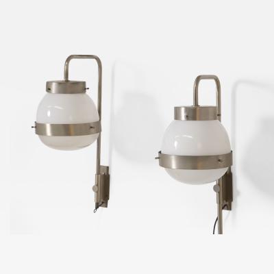 Sergio Mazza Pair of italian wall lamp Mod Delta by Sergio Mazza for Artemide 1960s
