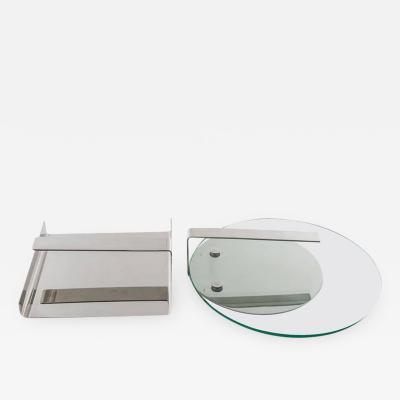 Sergio Mazza Set of Two Steel Desk Pieces by Mazza Gramigna for Krupp
