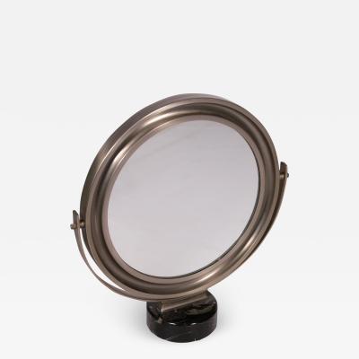 Sergio Mazza Table Mirror Sergio Mazza Marble Chromed Metal 1960s 1970s