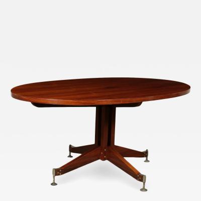 Sergio Mazza Table Veneer Brass Italy 1960s Sergio Mazza for Italian Production