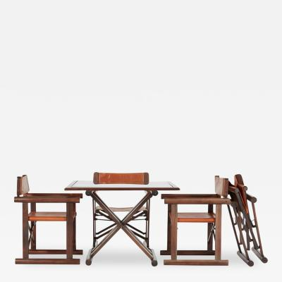 Sergio Rodrigues Campaign Set of Table and Chairs by Sergio Rodrigues for OCA Rare