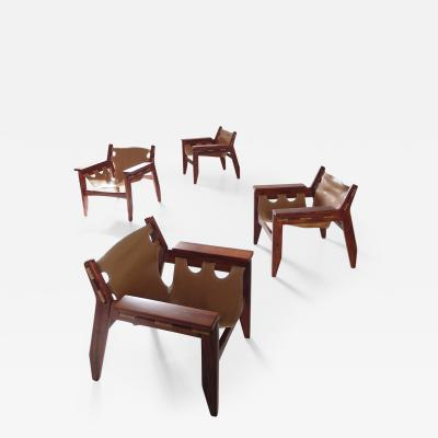 Sergio Rodrigues Exceptional Set of Four Kilin Chairs by Sergio Rodrigues for Oca Brazil 1973