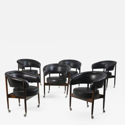 Sergio Rodrigues Mid century Modern Beg Armchair by Sergio Rodrigues Brazil 1960s set of 6