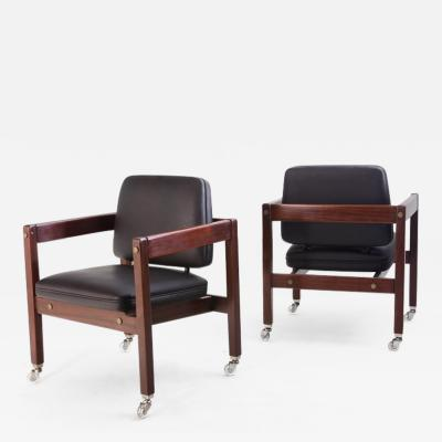 Sergio Rodrigues Mid century Modern Kiko Armchair by Brazilian Sergio Rodrigues Set of 2