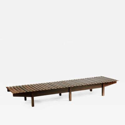 Sergio Rodrigues Mid century modern Mucki Bench by Brazilian designer Sergio Rodrigues