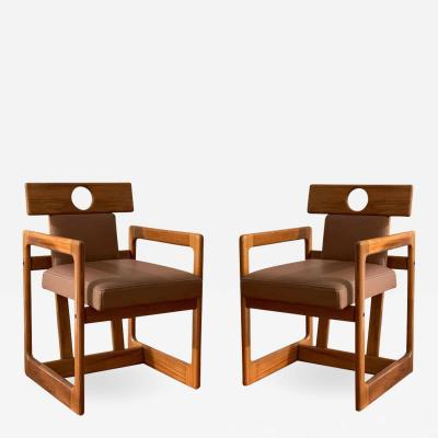 Sergio Rodrigues Pair of Cuiab Armchairs by Sergio Rodrigues