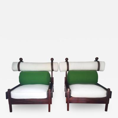 Sergio Rodrigues Pair of Tonico Rosewood Chairs by Sergio Rodrigues