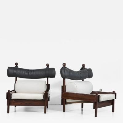 Sergio Rodrigues Pair of Tonico Series Chairs by Sergio Rodrigues for Meia Pateca